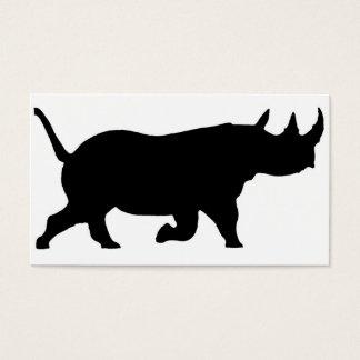 Rhino-Silhouette, rechte Einfassung, weißer Visitenkarte