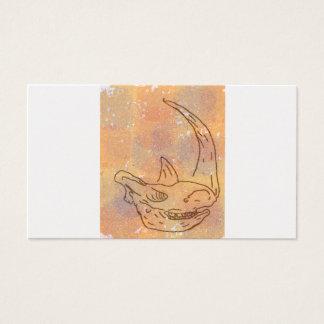 Rhino, Wasserfarbeerde Visitenkarte