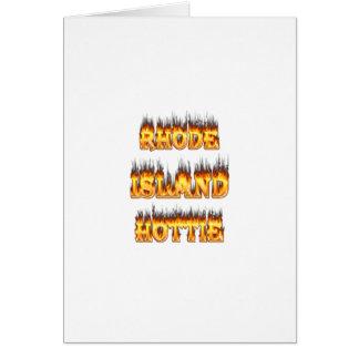 Rhode Island Hottie Feuer und Flammen Karte