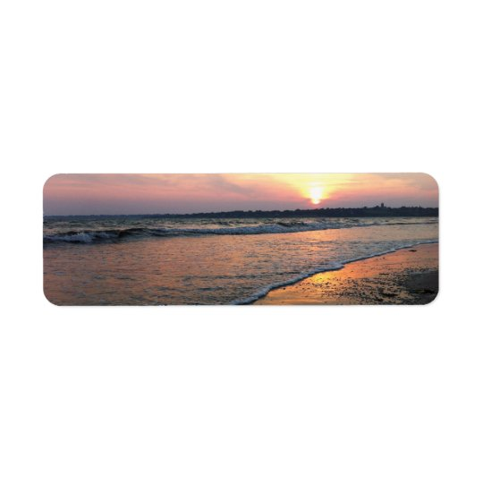 Rhode Island Sonnenuntergang Kleiner Adressaufkleber