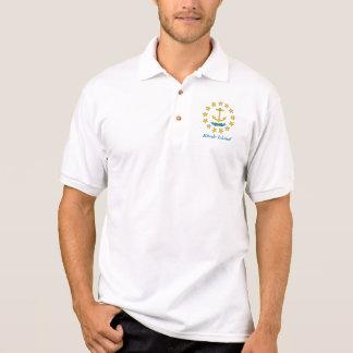 Rhode Island Staats-Siegel-Anker Polo Shirt
