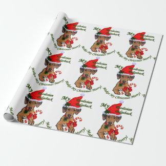 Rhodesian Ridgeback Weihnachten Geschenkpapier
