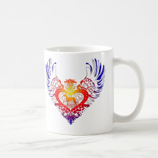 Rhodesian Ridgeback Winged Herz Kaffeetasse