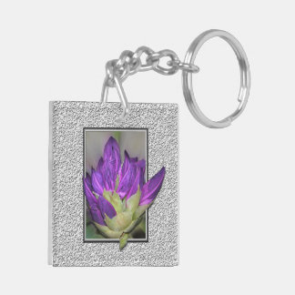 Rhododendron Beidseitiger Quadratischer Acryl Schlüsselanhänger