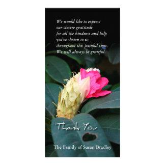Rhododendron-Blüten-Beileid danken Ihnen Individuelle Foto Karte