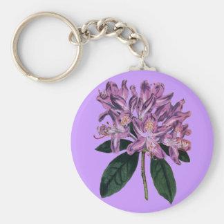 Rhododendron Ponticum Standard Runder Schlüsselanhänger