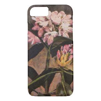 Rhododendron-Rosa gemalte Blumenblüte iPhone 8/7 Hülle