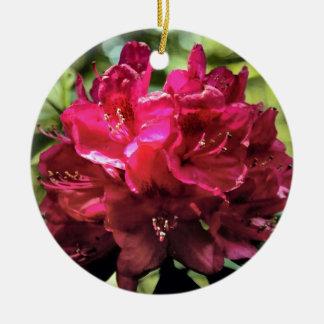 Rhododendron Rundes Keramik Ornament
