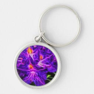 RhododendronTopaz Silberfarbener Runder Schlüsselanhänger