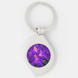 RhododendronTopaz Silberfarbener Wirbel Schlüsselanhänger