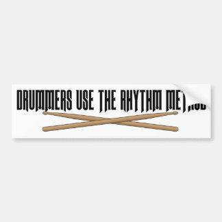 Rhythmus-Methoden-Schlagzeuger-lustiger Autoaufkleber