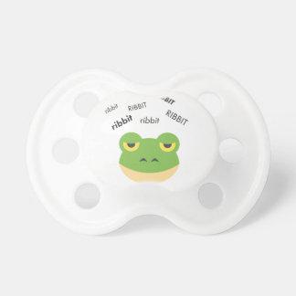 Ribbit Frosch niedliches Emoji Schnuller