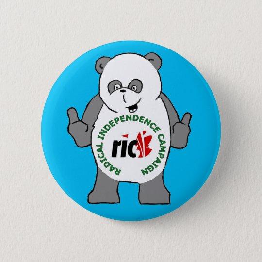 RIC Panda-Abzeichen Runder Button 5,1 Cm