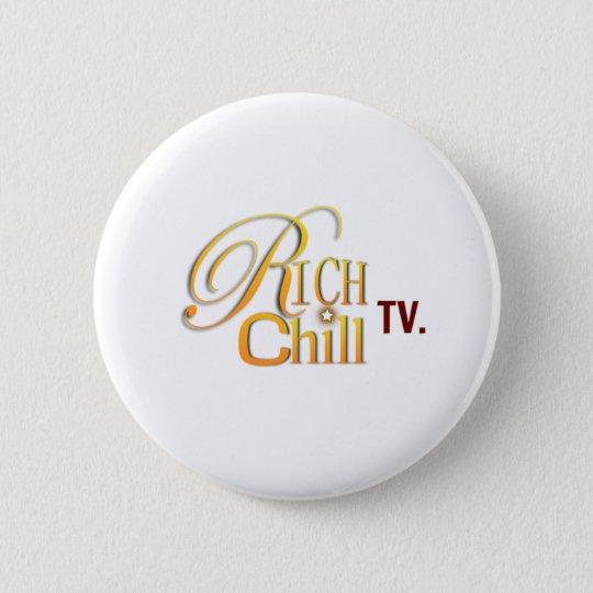 RichChillTV Logo-Knopf Runder Button 5,1 Cm