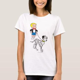 Richie Reich-Weg-Dollar der Hund - Farbe T-Shirt