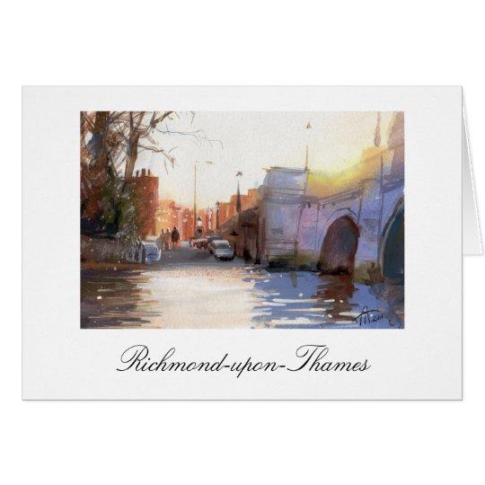 Richmond-Brücke, Richmond-nach-Themse Karte