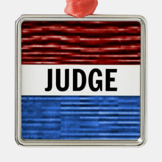 Richter-patriotische Weihnachtsverzierung Silbernes Ornament