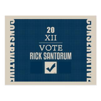 Rick Santorum 2012 Postkarte