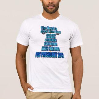 Rick Santorum: Die Straße nach großes Amerika T-Shirt