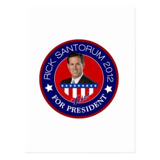 Rick Santorum für Präsidenten 2012 Postkarte