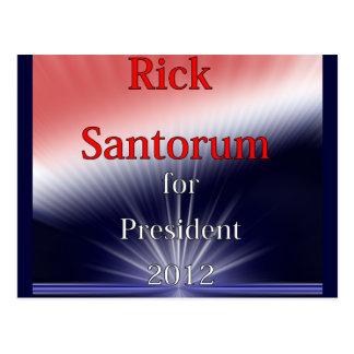 Rick Santorum für Präsidenten Dulled Explosion Postkarte
