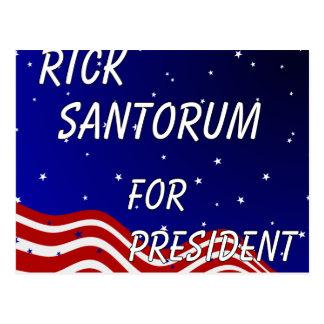 Rick Santorum für Präsidenten nächtlicher Himmel Postkarte