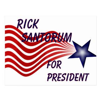Rick Santorum für Präsidenten Sternschnuppe Postkarte