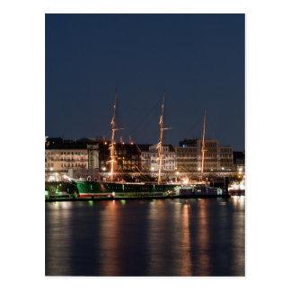 Rickmer Rickmers nachts Postkarte