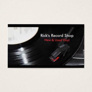 Ricks Rekordgeschäft Visitenkarte