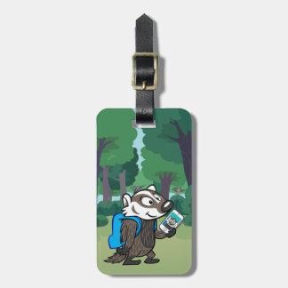 Ricky Raccoon | Boomer Badger Selfie Kofferanhänger