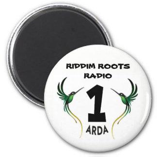 Riddim wurzelt Radio 1 Arda Kühlschrankmagnet