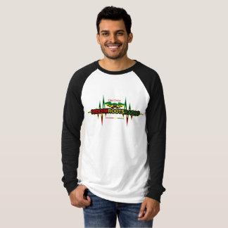 Riddim wurzelt raglan-Spitze der Radiomänner lange T-Shirt