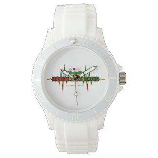 Riddim wurzelt weiße das Silikon-Uhr der Uhr