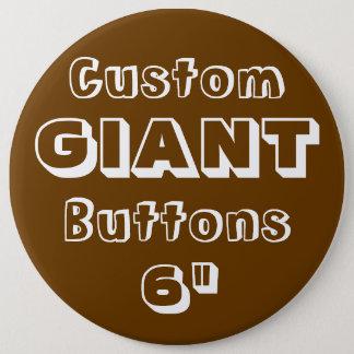"""Riese 6"""" Knopf-Button-Abzeichen BROWN Runder Button 15,3 Cm"""