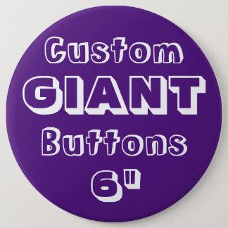 """Riese 6"""" Knopf-Button-Abzeichen LILA Runder Button 15,3 Cm"""