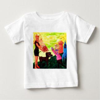Riese, Pizza, Hund und Kuh Baby T-shirt