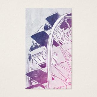 Riesenrad-Aquarell Visitenkarte