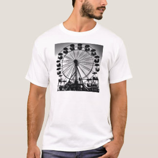 Riesenrad herein Schwarzweiss-Foto-Geschenke T-Shirt