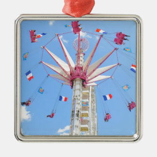 Riesenrad Quadratisches Silberfarbenes Ornament