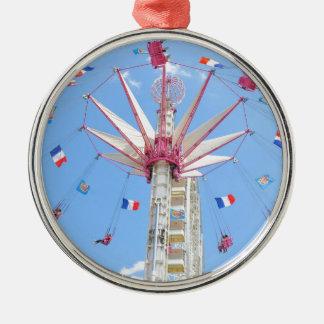 Riesenrad Rundes Silberfarbenes Ornament