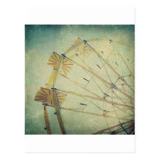 Riesenrad-Vintager Druck Postkarte