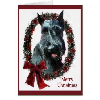 Riesenschnauzer-Weihnachtsgeschenke Grußkarte
