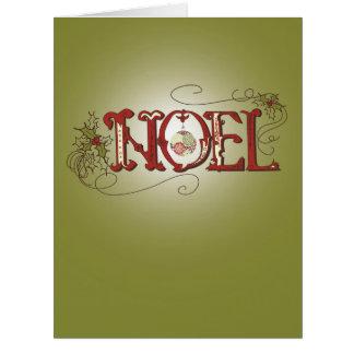Riesige Avocado-Grün-Weihnachtsweihnachtskarte Karte