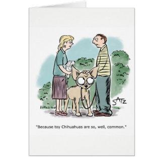 Riesige Chihuahuagrußkarte Karte