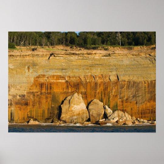 Riesige Felsen, dargestellter Poster
