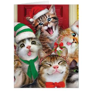 Riesige frohe Weihnachten zur Zoo-Weihnachtskarte Karte