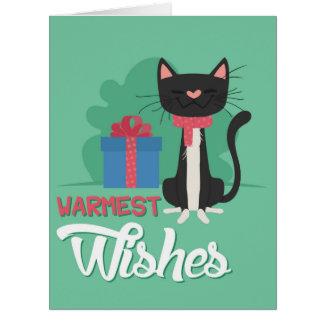 Riesige fröhliche Haustier-Weihnachtskarte Karte