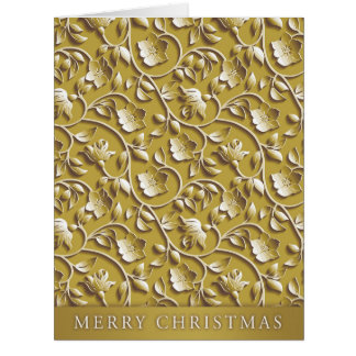 Riesige goldene Feiertags-Weihnachtskarte Karte