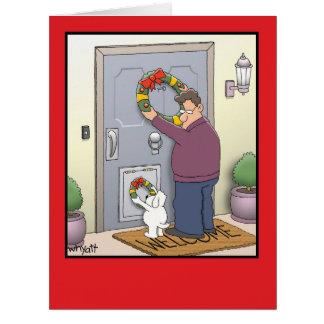 Riesige HundeKranz-Weihnachtskarte Karte