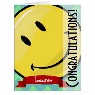 Riesige lächelnde Glückwünsche große Greeeting Karte